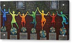 Our World Acrylic Print by Linda Carmel