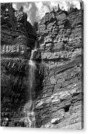 Ouray Waterfall Acrylic Print by Robert Lozen