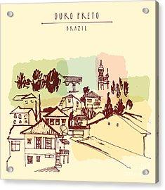 Ouro Preto, Minas Gerais, Brazil Acrylic Print