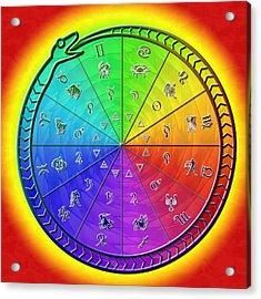 Ouroboros Alchemical Zodiac Acrylic Print by Derek Gedney