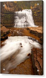 Acrylic Print featuring the photograph Ousel Falls by Aaron Whittemore