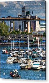 Out At The Harbor V3 Acrylic Print by Michael Frank Jr