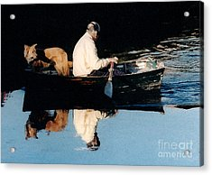 Acrylic Print featuring the photograph Out For A Boat Ride by Susan Crossman Buscho