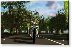 Acrylic Print featuring the digital art Out For A Ride... by Tim Fillingim