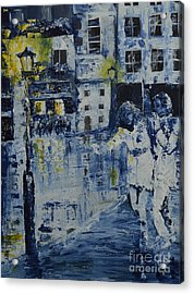 Out In The City Acrylic Print by Roni Ruth Palmer