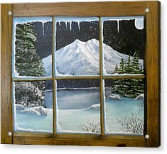 Out My Window-bright Winter's Night Acrylic Print