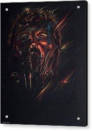 Out Of Blackness Acrylic Print by Christy Lifosjoe