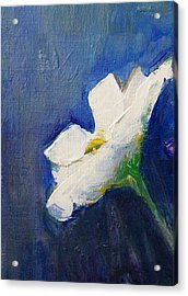 Acrylic Print featuring the painting Out Of The Blue by Jane  See