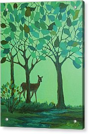 Out Of The Forest Acrylic Print by Mary Wolf