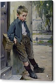 Out Of The Game Acrylic Print by Henri Jules Jean Geoffroy
