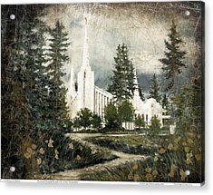 Out Of The Wilderness Portland Oregon Temple Acrylic Print