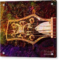 Out Of Tune Digital Guitar Art By Steven Langston Acrylic Print by Steven Lebron Langston
