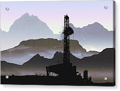 Out There Drilling Acrylic Print by Daniel Hagerman