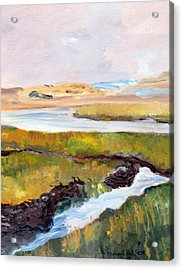Acrylic Print featuring the painting Out To The Bay by Michael Helfen