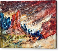 Out West Acrylic Print by Ron Stephens
