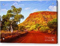 Outback Road Australia Acrylic Print by Colin and Linda McKie