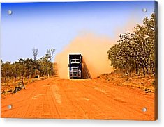 Acrylic Print featuring the photograph Outback Road Train by David Rich