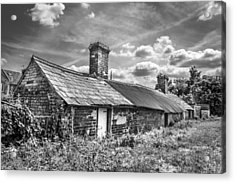Acrylic Print featuring the photograph Outbuildings. by Gary Gillette
