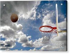 Outdoor Basketball Shot Acrylic Print by Lane Erickson
