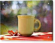 Outdoor Cafe Acrylic Print by Laura Fasulo