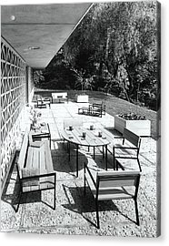 Outdoor Dining Area Acrylic Print