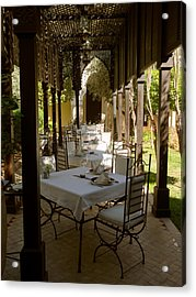 Outdoor Dining Area, Villa Des Orangers Acrylic Print by Panoramic Images