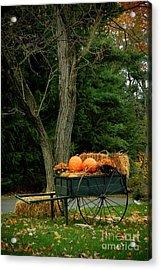 Outdoor Fall Halloween Decorations Acrylic Print