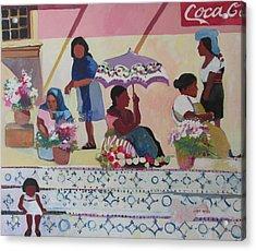 Outdoor Market San Miguel Allende Acrylic Print