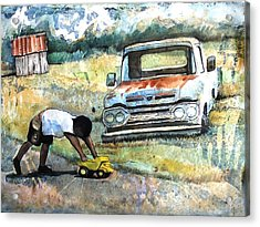 Outdoor Play'n Trucks Acrylic Print