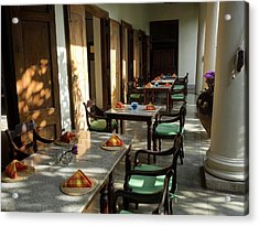 Outdoor Tables, Galle Fort Hotel Acrylic Print by Panoramic Images