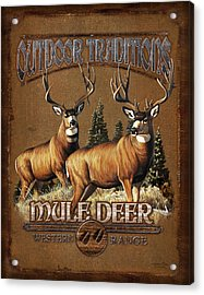 Outdoor Traditions Mule Deer Acrylic Print by JQ Licensing