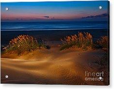 Outer Banks - Before Sunrise On Pea Island I Acrylic Print by Dan Carmichael