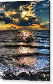 Outer Banks - Radical Sunset On Pamlico Acrylic Print by Dan Carmichael
