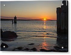 Outer Banks Sunset Acrylic Print by Gregg Southard