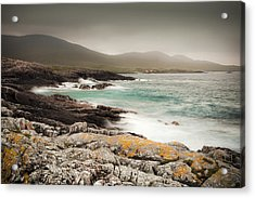 Outer Hebrides Waves Acrylic Print by Ray Devlin