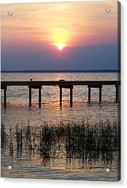 Acrylic Print featuring the photograph Outerbanks Nc Sunset by Sandi OReilly
