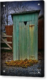 Outhouse - 6 Acrylic Print by Paul Ward