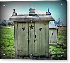 Outhouse - His And Hers Acrylic Print by Paul Ward