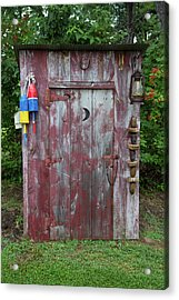 Outhouse Shed In A Garden, Marion Acrylic Print