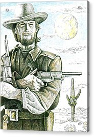 Outlaw Josey Wales Acrylic Print by Bern Miller