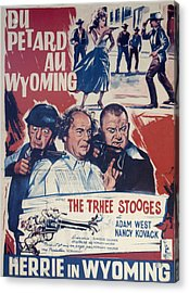 Outlaws Is Coming Acrylic Print by Official Three Stooges