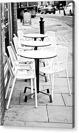 Outside Cafe Acrylic Print