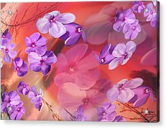 Acrylic Print featuring the painting Outside Inspirations by Janie Johnson