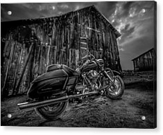 Outside The Barn Bw Acrylic Print by Yo Pedro
