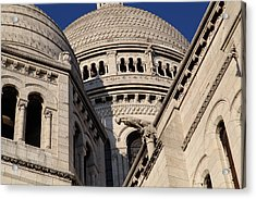 Outside The Basilica Of The Sacred Heart Of Paris - Sacre Coeur - Paris France - 011310 Acrylic Print by DC Photographer