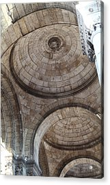 Outside The Basilica Of The Sacred Heart Of Paris - Sacre Coeur - Paris France - 011311 Acrylic Print by DC Photographer