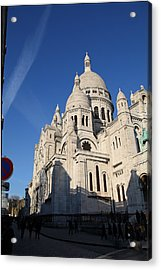 Outside The Basilica Of The Sacred Heart Of Paris - Sacre Coeur - Paris France - 01133 Acrylic Print by DC Photographer