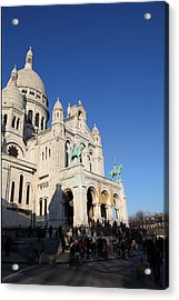 Outside The Basilica Of The Sacred Heart Of Paris - Sacre Coeur - Paris France - 01135 Acrylic Print by DC Photographer