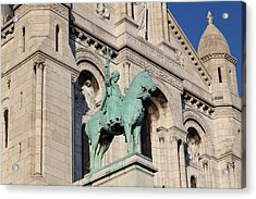 Outside The Basilica Of The Sacred Heart Of Paris - Sacre Coeur - Paris France - 01137 Acrylic Print by DC Photographer