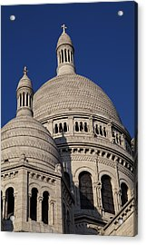 Outside The Basilica Of The Sacred Heart Of Paris - Sacre Coeur - Paris France - 01138 Acrylic Print by DC Photographer